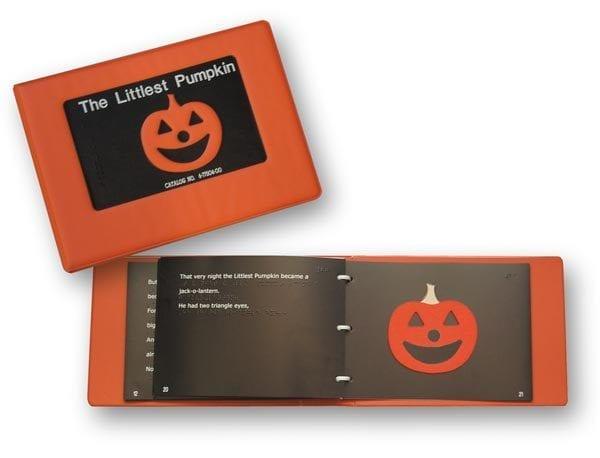 The Littlest Pumpkin three ring bound book