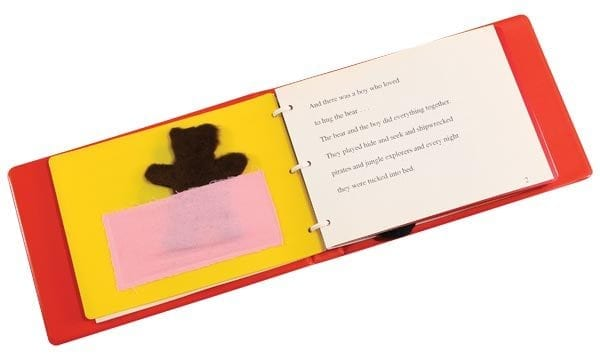 Thats Not My Bear three ring bound book open