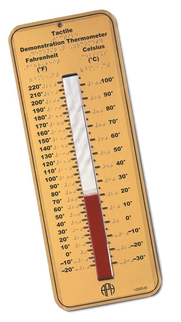 Tactile Demonstration Thermometer