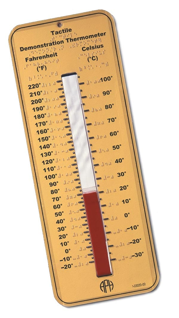 Tactile Demonstration Thermometer American Printing House