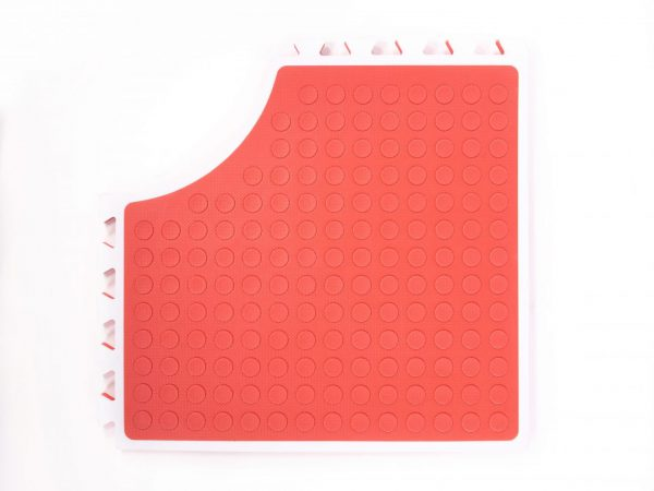 Reach and Match Learning Kit Red Sensory Mat Textured Side