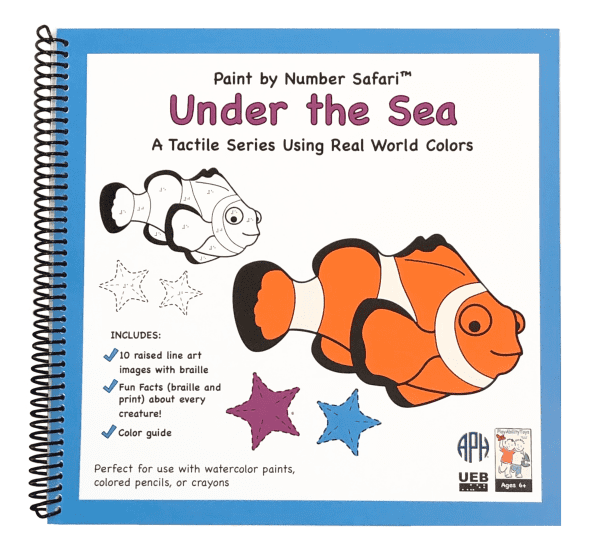 Spiral bound Paint by Number Safari: Under the Sea UEB