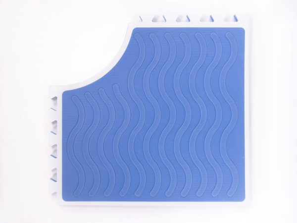Reach and Match Learning Kit Blue Sensory Mat Textured Side