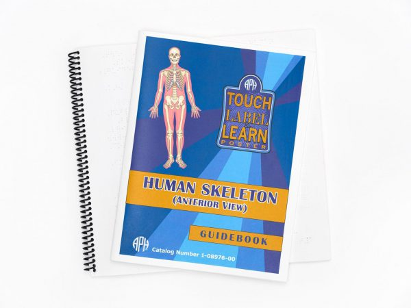 Touch Label and Learn Poster Human Skeleton Guide Book