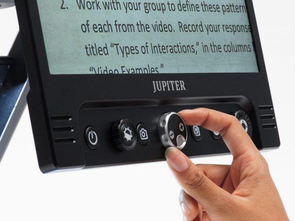 Jupiter Portable Magnifier Demonstrating Use Of Zoom Knob