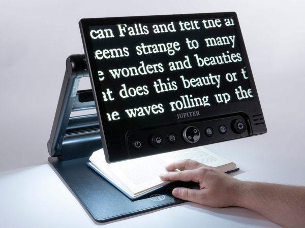Jupiter Portable Magnifier Demonstrating Use Close Up