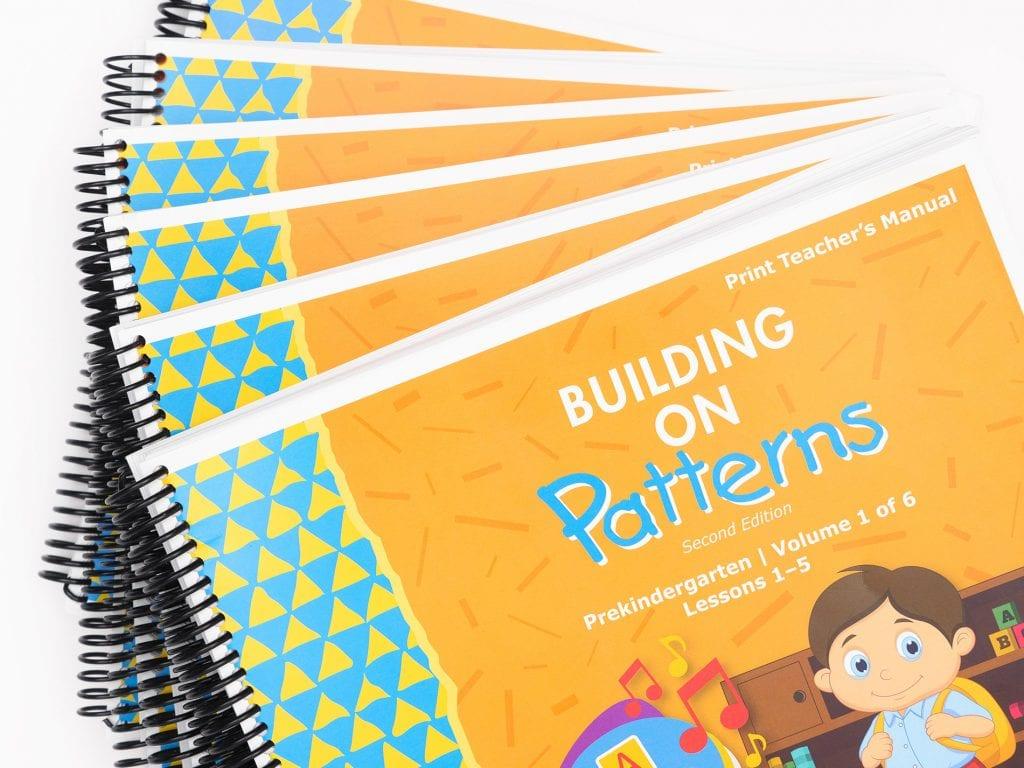 BOP Pre K Teacher Kit Teachers Manual Vol 1-6 stack
