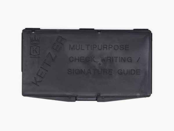 Keitzer Check Writing Guide Top View
