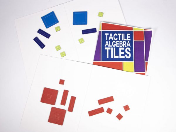 Tactile Algebra Tiles Working Board and Tiles