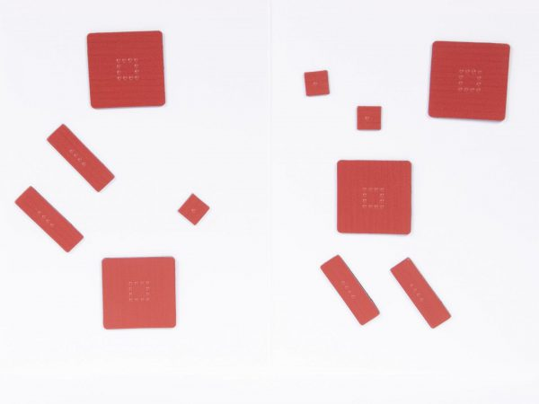 Tactile Algebra Tiles Working Board and Tiles One