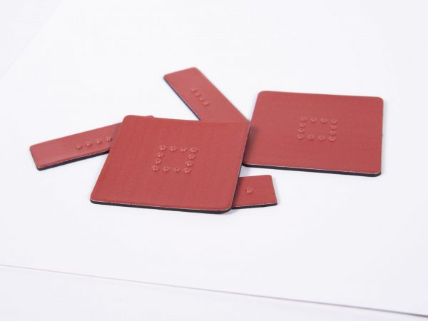 Tactile Algebra Tiles Close up Two