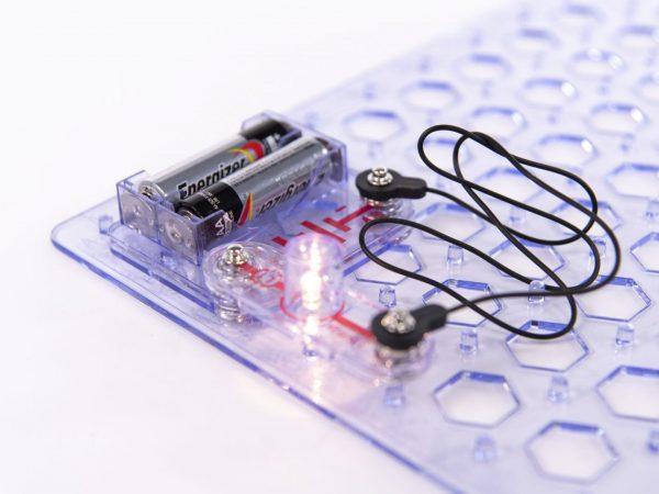 Snap Circuits Jr Battery Pack close up
