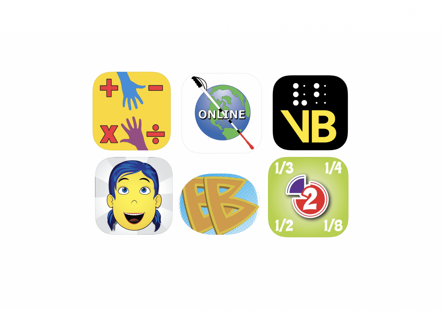 6 app icons for the apps described in the blog