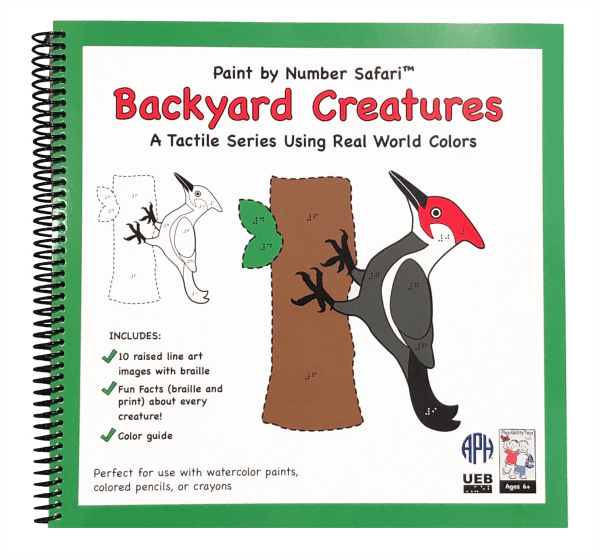 Spiral bound Paint by Number Safari: Backyard Creatures UEB