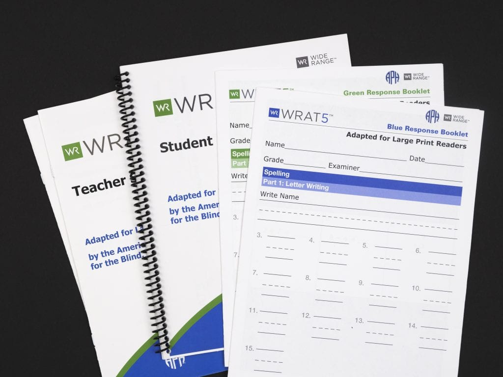 Photo of WRAT-5 Teacher and Student Response Booklets