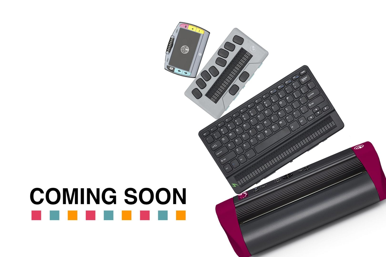 Photograph of APH products, Juno, Chameleon, Mantis and PixBlaster.