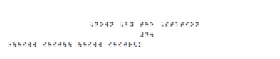 simulated braille of notes to down by the station