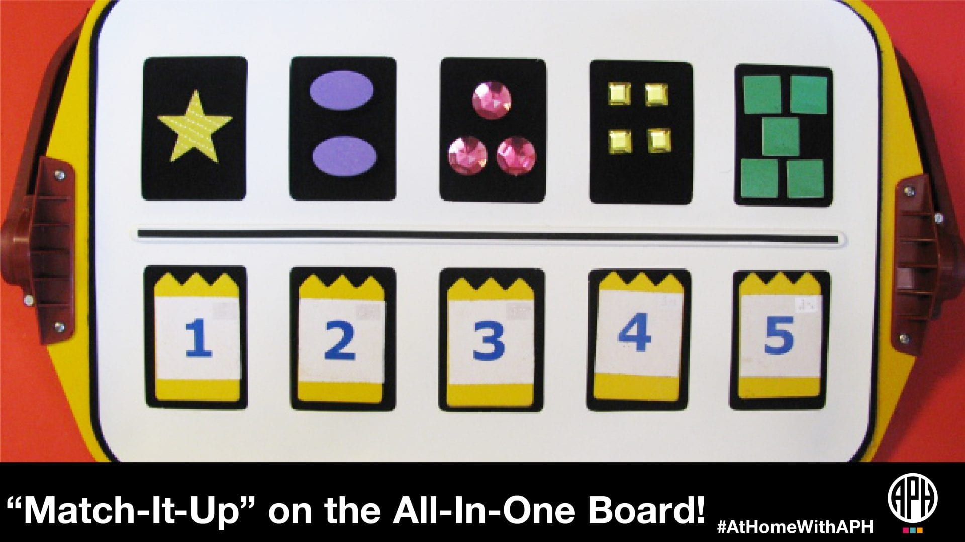 "image of an all-in-one board with match-it-up pieces on it ""Match-It-Up"" on the All-In-One Board #AtHomeWithAPH"""