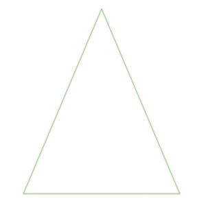 a triangle shape