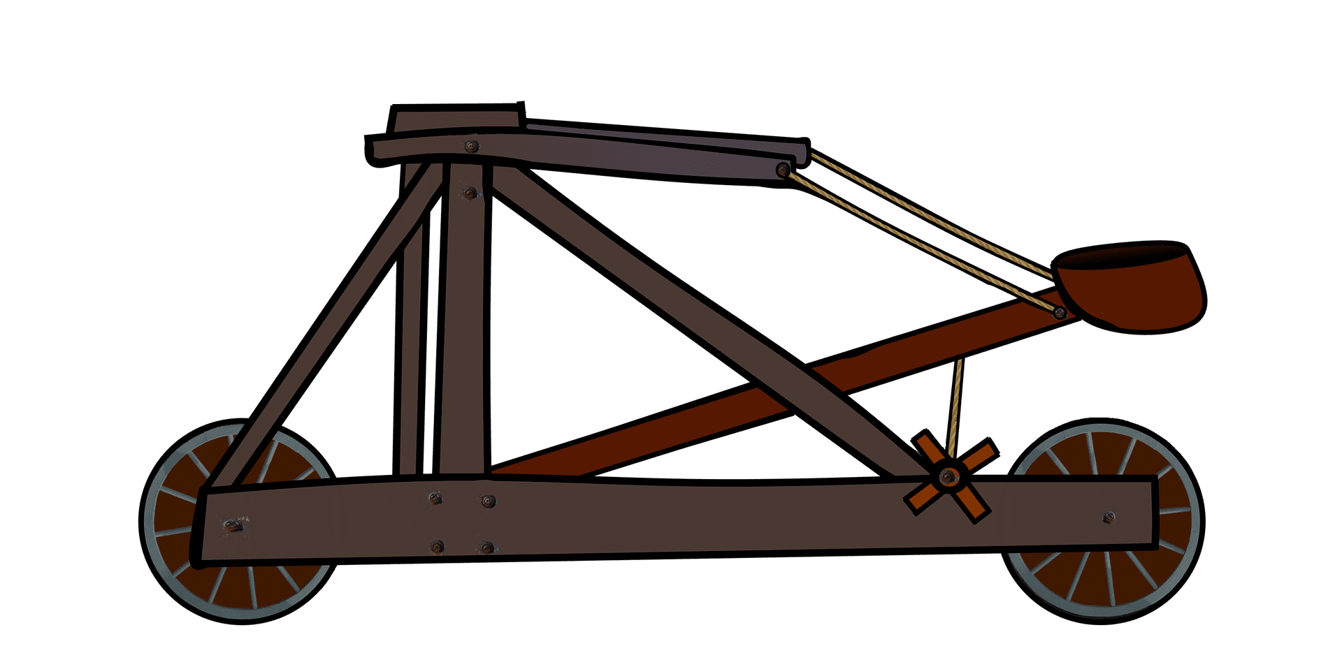 an illustration of a classic catapult