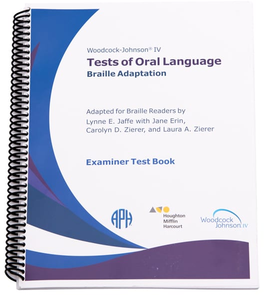 Spiral bound Woodcock-Johnson IV Tests of Oral Language manual for administration