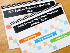 Math Symbols Reference Booklet Large Print