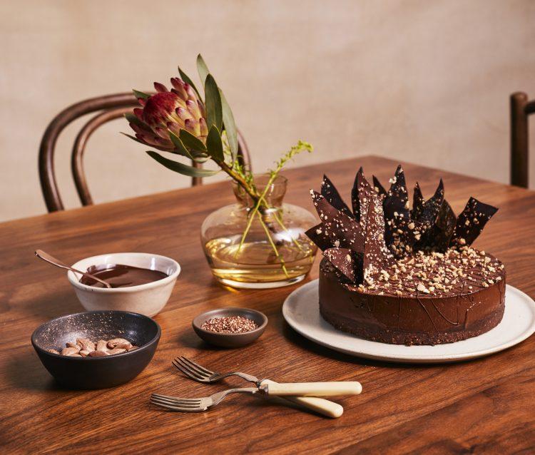 Lucie Bennett's vegan chocolate ganache cake