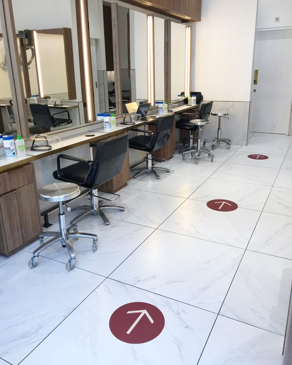 salon sloane floor markings