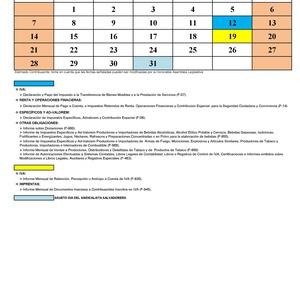 Calendario tributario G&R Auditores y Asesores Financieros