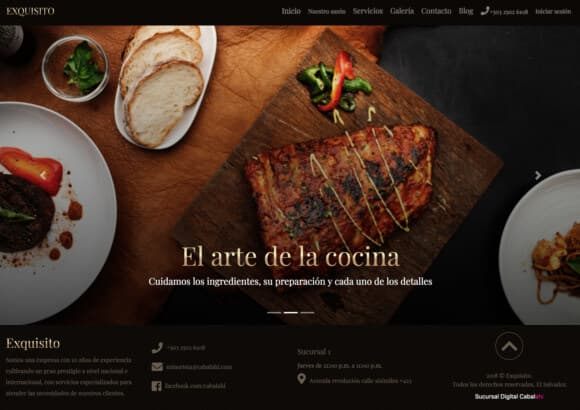 Sucursal Digital de Restaurante Exquisito Grill