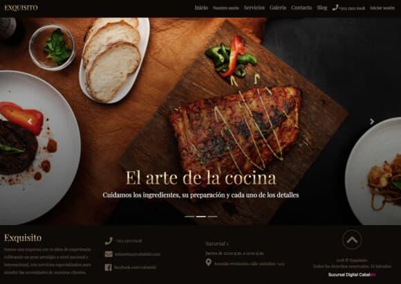 Sucursal Digital de Restaurante Exquisito Grill