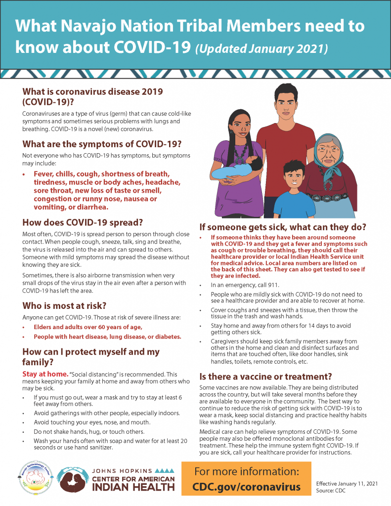 What Navajo Nation Tribal Members Need to Know about COVID-19