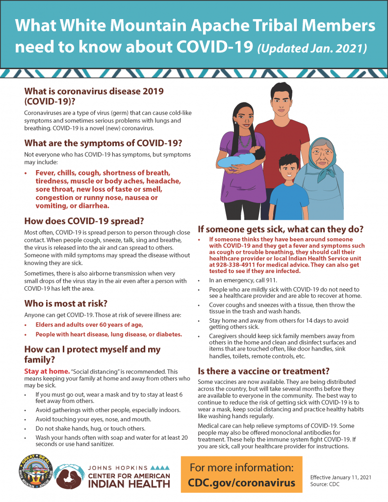 What White Mountain Apache Tribal Members Need to Know about COVID-19