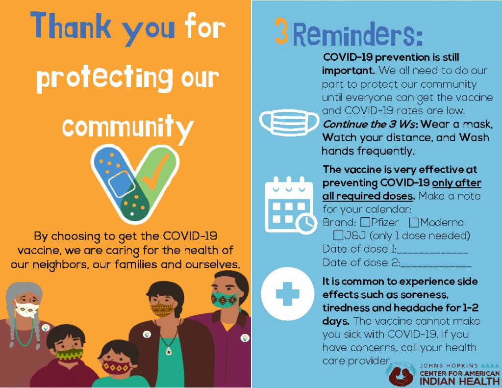 Navajo Nation Vaccine Postcard