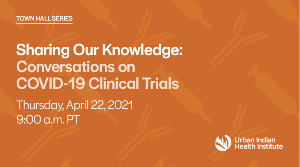 Sharing Our Stories: Conversation on COVID-19 Clinical Trials Town Hall