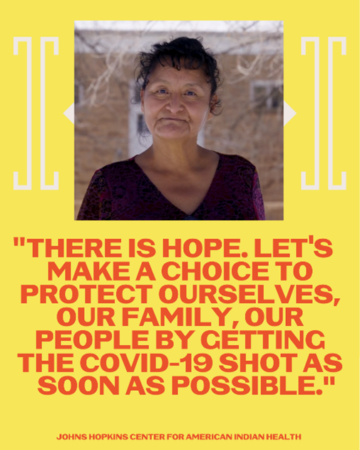 """""""Diné Traditional Healer talks about #COVID19 #Vaccination"""" Video: Social Media Toolkit"""