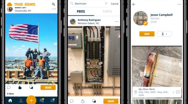 tradehounds construction labor shortage via online marketplace