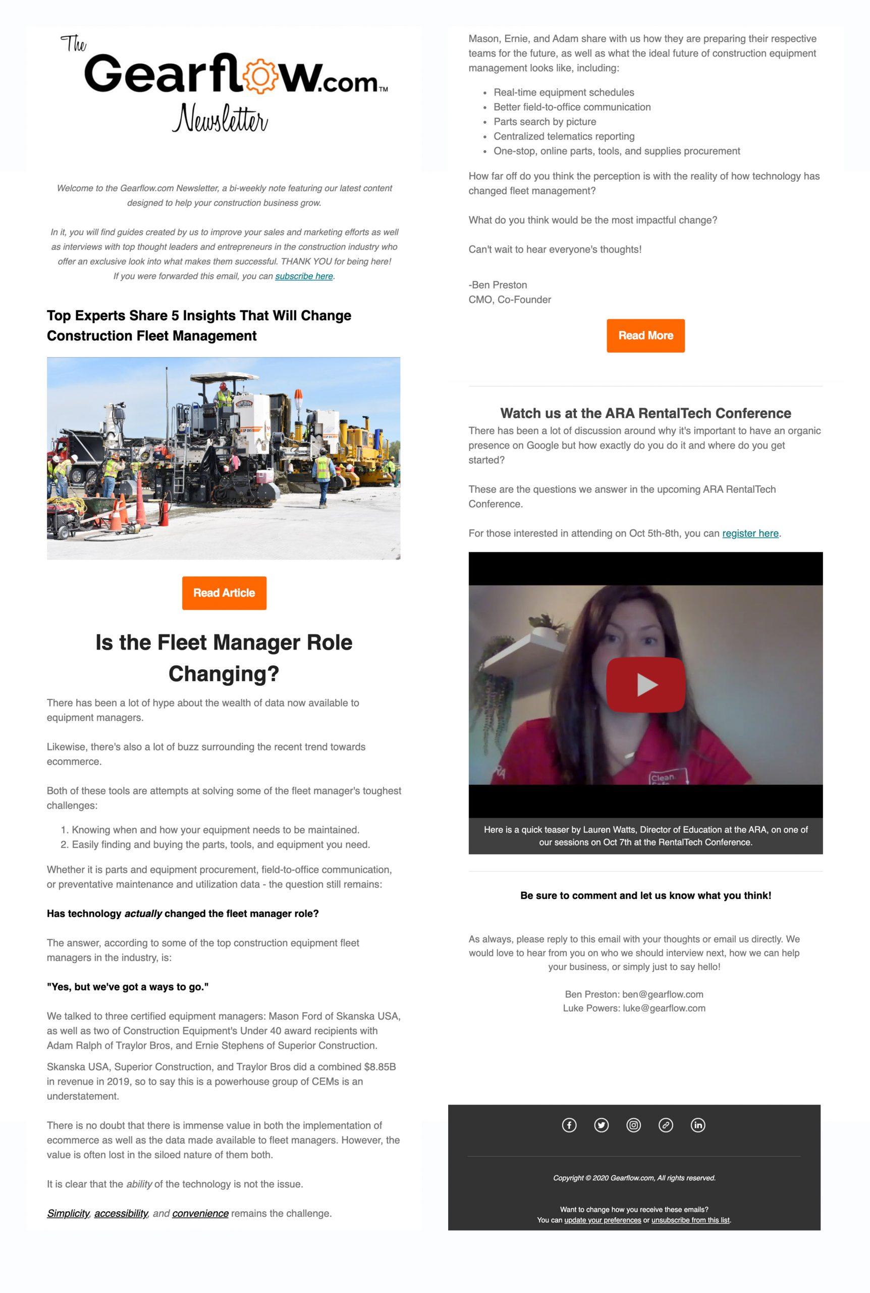 sample gearflow.com newsletter