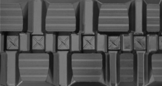 staggered block rubber track