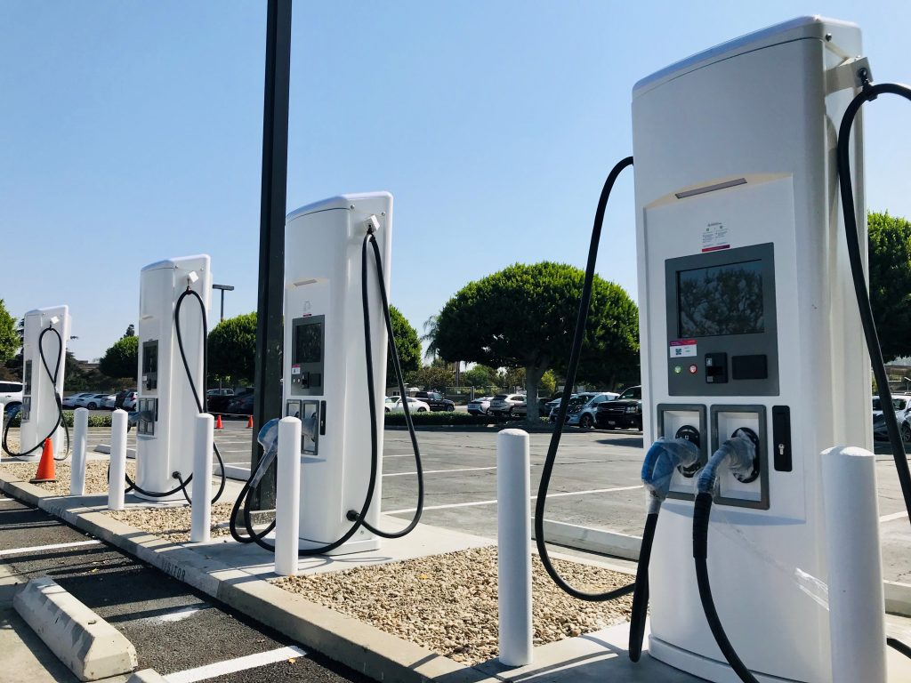 Electric equipment charging stations