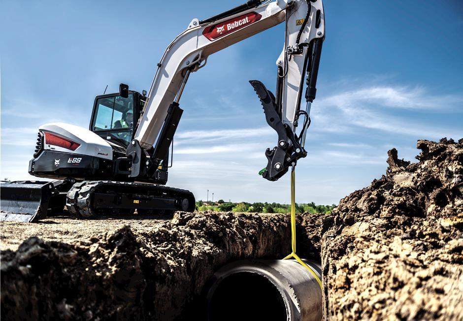 Bobcat excavator tracks