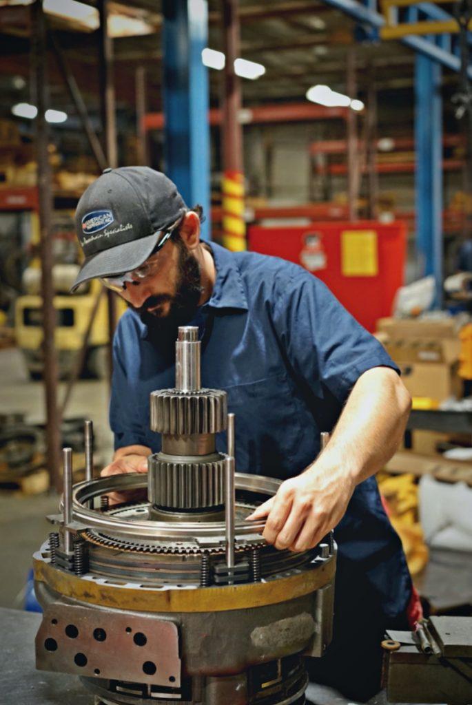 Heavy equipment transmission