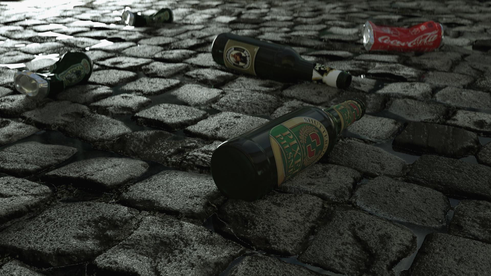 CGMEETUP - Bottle renderd with Octane in C4D by X-ARTIST