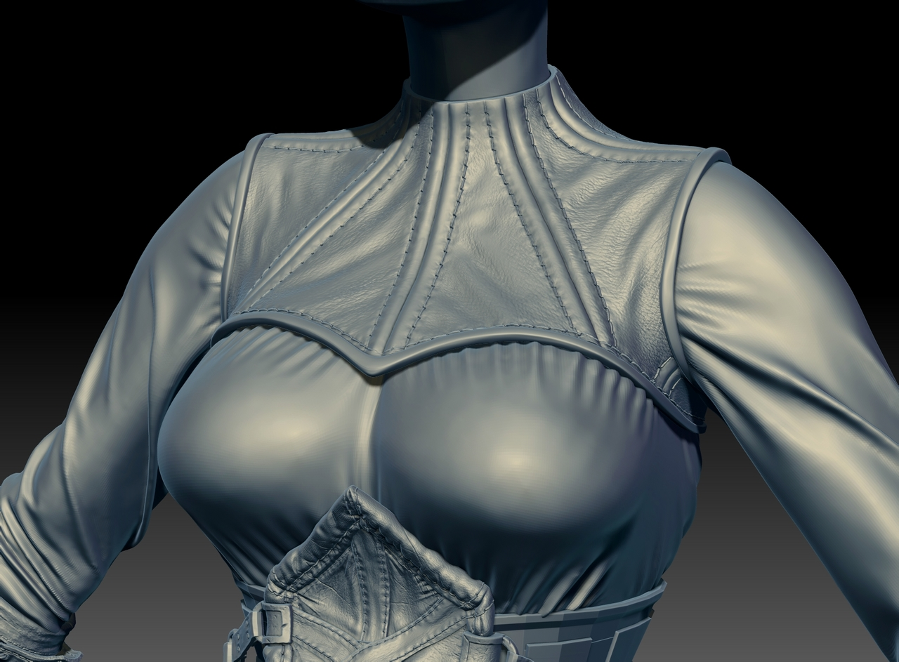 CGMEETUP - Stich leather for Zbrush in GUMROAD by Sebastien