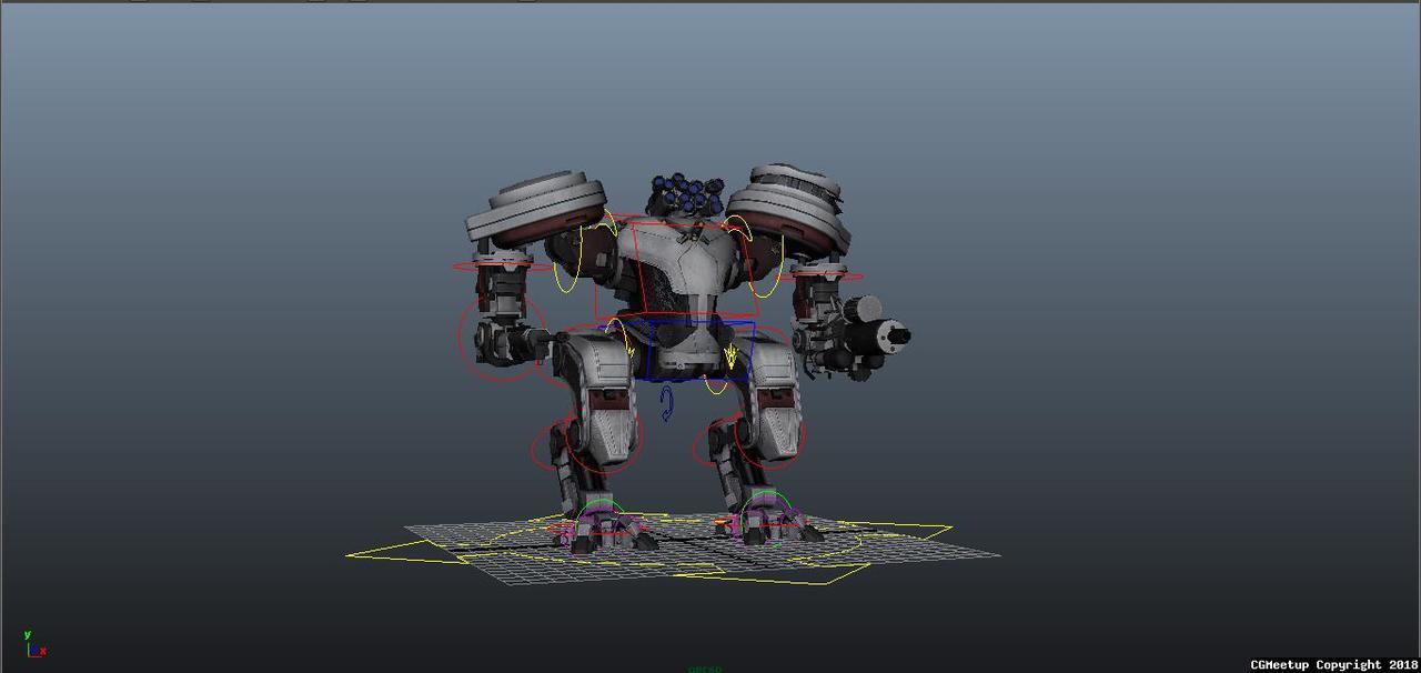 CGMEETUP - Mech Robot Rig by Niranjan Chris Martin