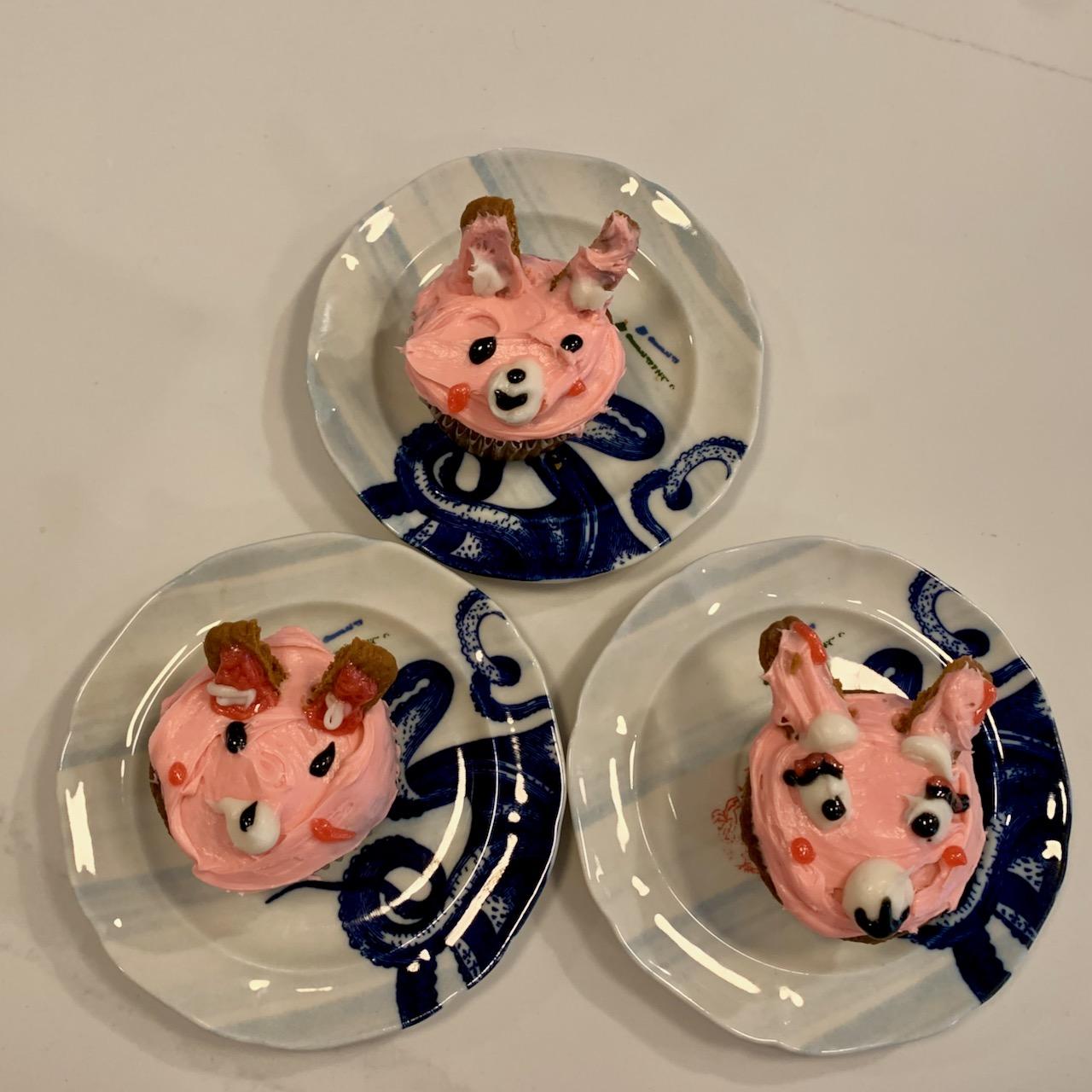 Cupcakes decorated as bunnies