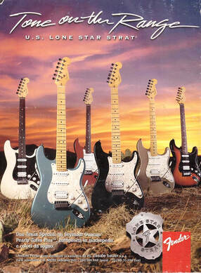 Lone Star Stratocaster ad from around 1996