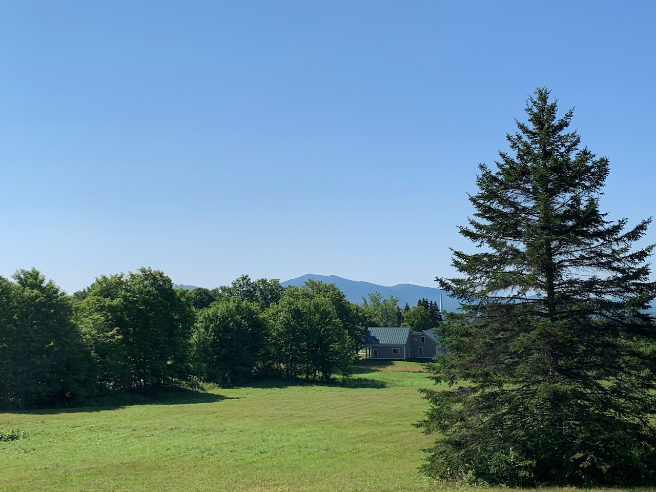 A nice view from the house in Newark, Vermont