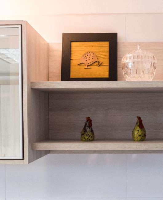Cozinha Moderna Chocolate-Carmim