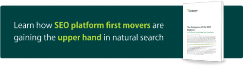 SEO platform first movers gaining upper hand in natural search